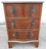 SOLD - Antique Georgian Style Small Mahogany Serpentine Front Chest of Drawers